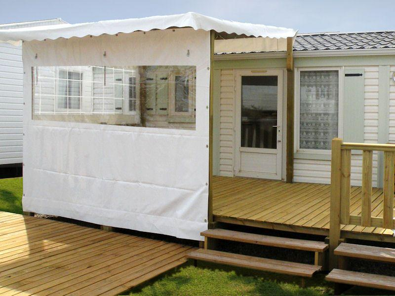 Terrasse couverte pour mobil home