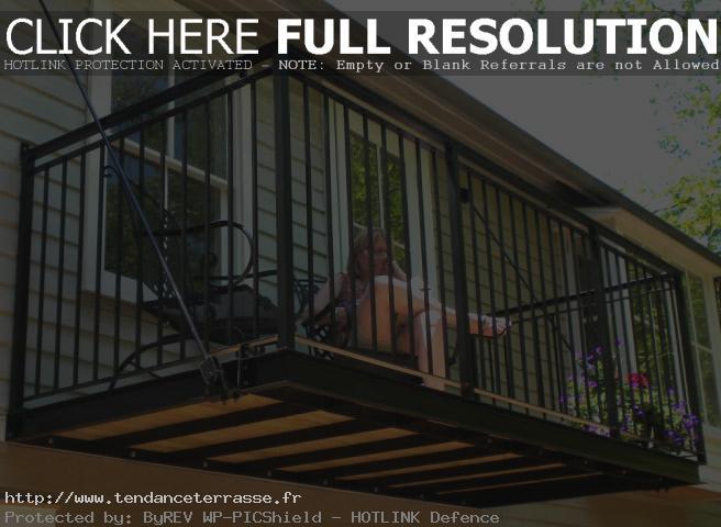 Terrasse couverte sans poteau