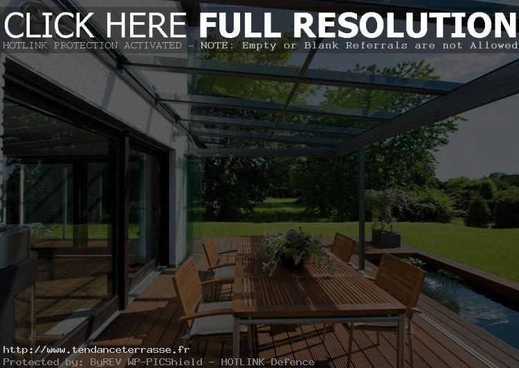 terrasse couverte verre