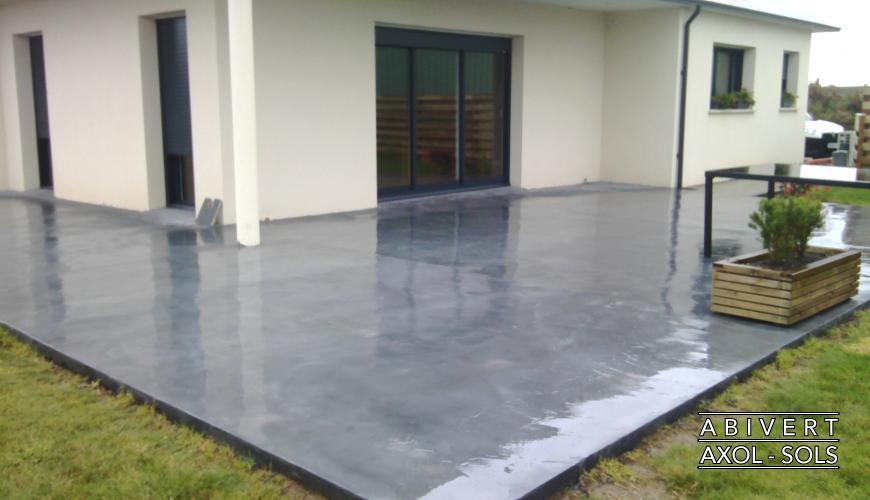 terrasse en beton cire exterieur