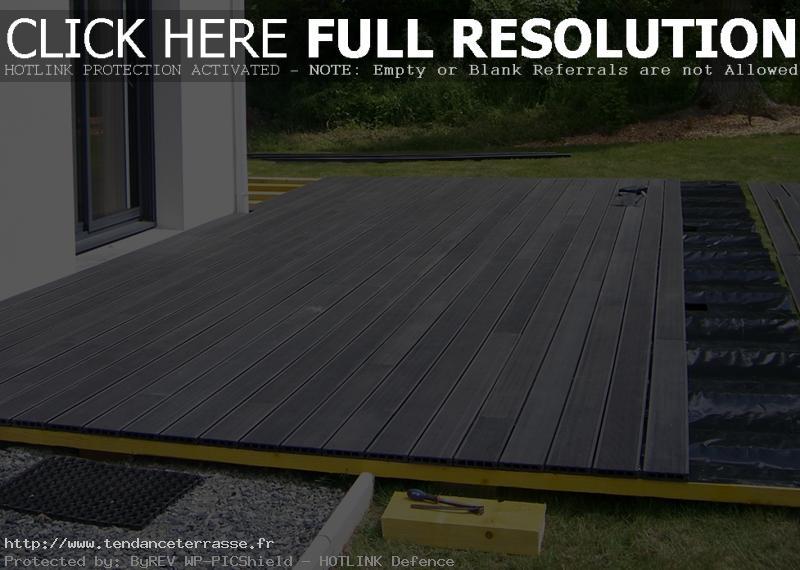 terrasse en bois composite castorama
