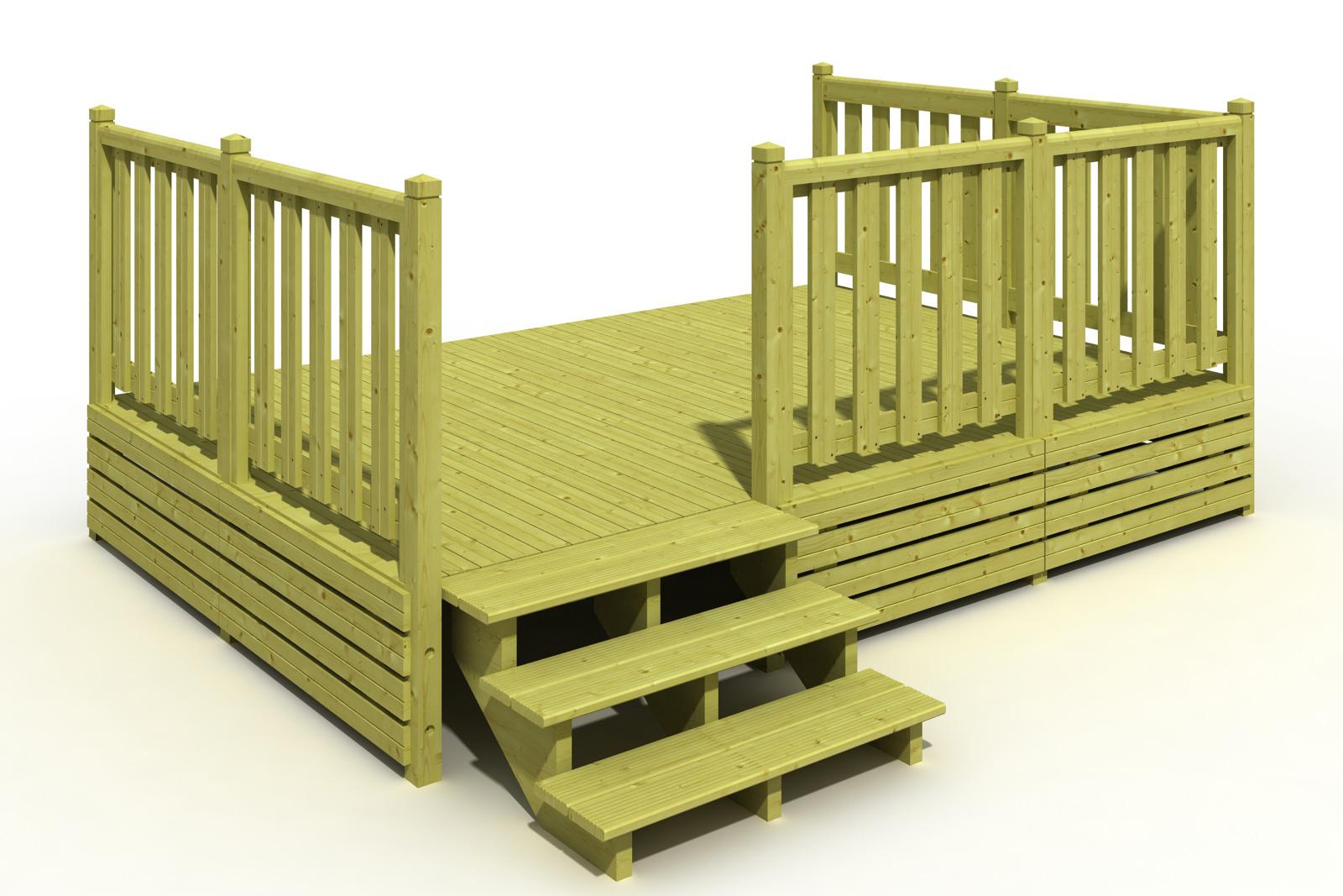 Terrasse en bois pour mobil home
