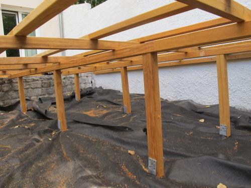 Terrasse en bois sur pilotis permis de construire