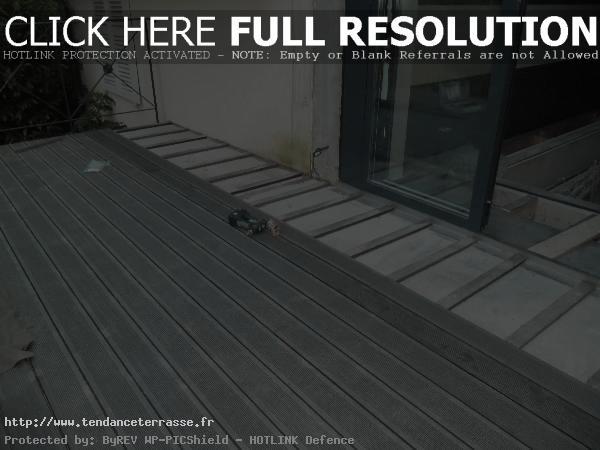 terrasse en composite sur dalle beton