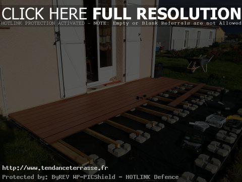 terrasse en composite sur plots