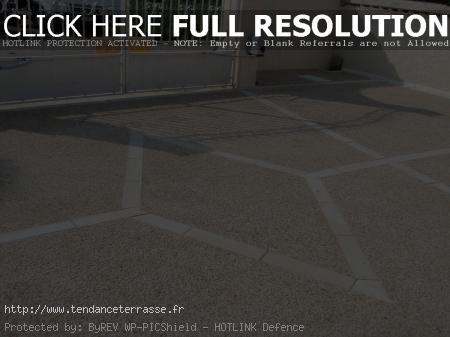 terrasse en gravier lave