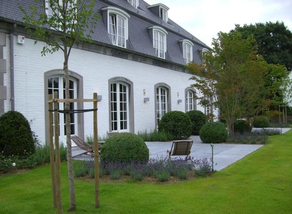 terrasse et pierre bleue de la dyle
