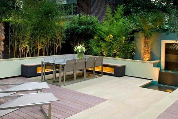 Terrasse exterieure en bambou