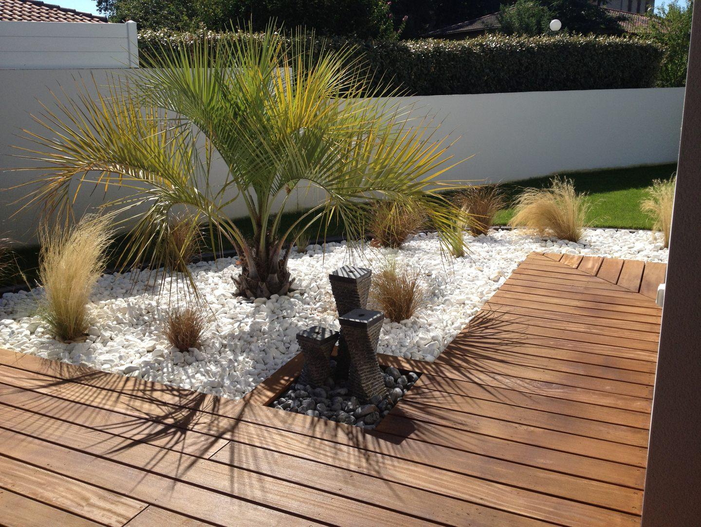 terrasse galet blanc