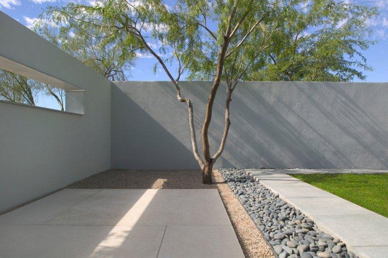 terrasse galets decoratifs