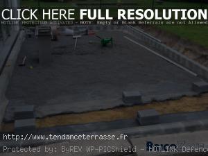 terrasse gravier sur dalle beton
