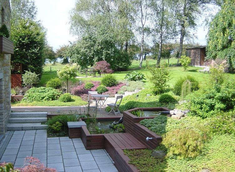 terrasse jardin en pente