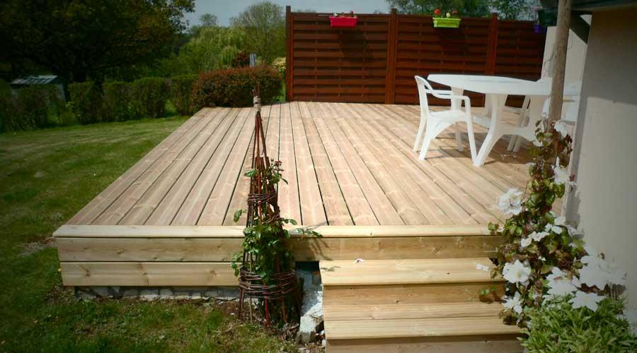 terrasse jardin palette