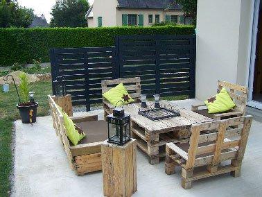 terrasse jardin simple