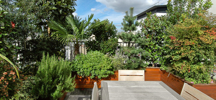 Terrasse jardin suspendu