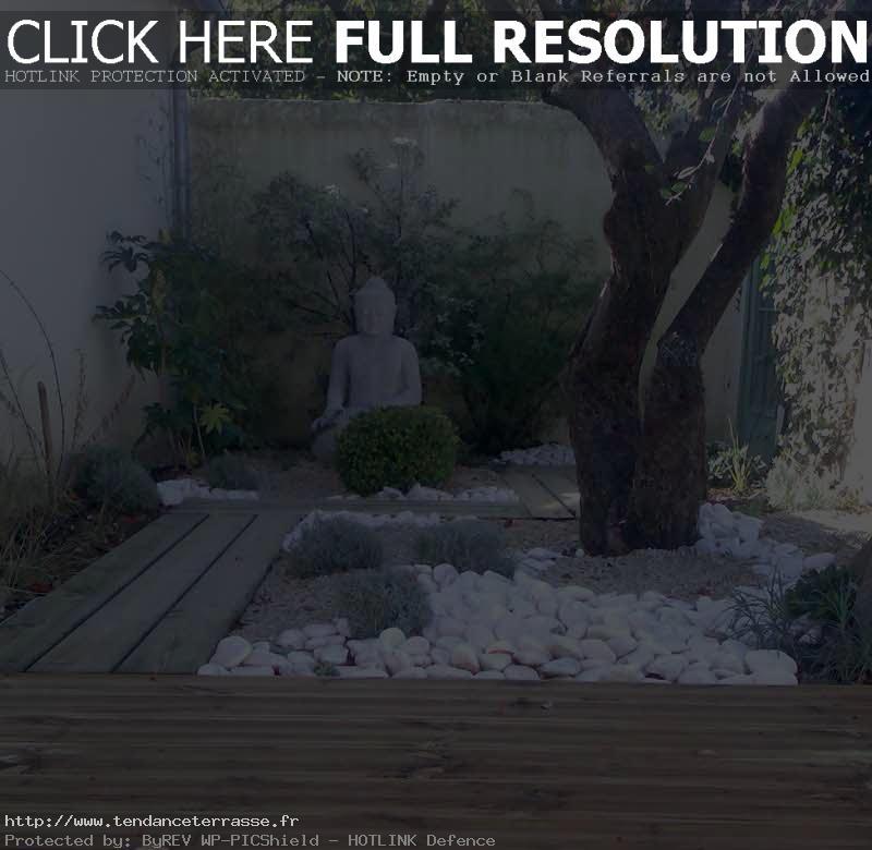 terrasse jardin zen