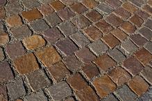 Terrasse pave porphyre