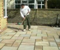Terrasse pierre nettoyer