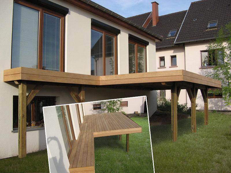 terrasse pilotis en bois