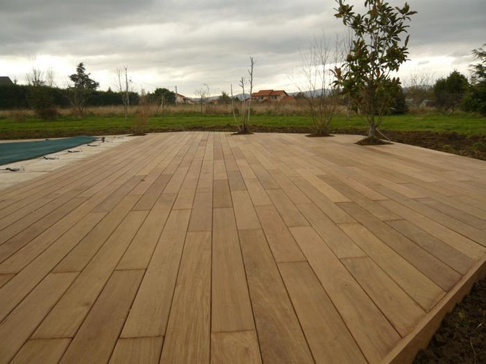 terrasse piscine chene