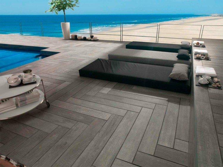 terrasse piscine imitation bois