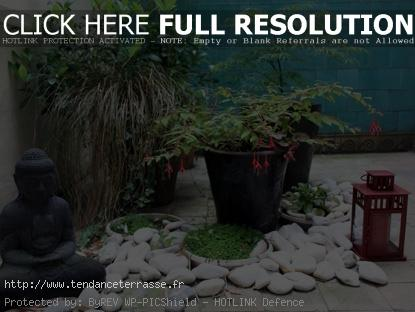 Terrasse plantes zen