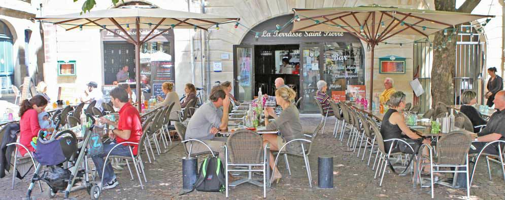 Terrasse st pierre restaurant bordeaux