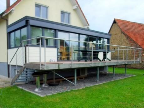 terrasse suspendue acier prix