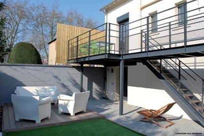 terrasse suspendue aluminium