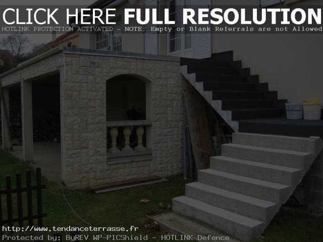 terrasse suspendue beton