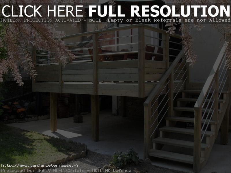 terrasse suspendue bois