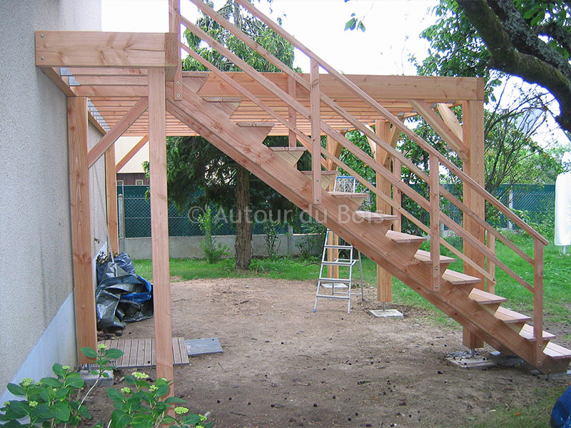 terrasse suspendue bois kit