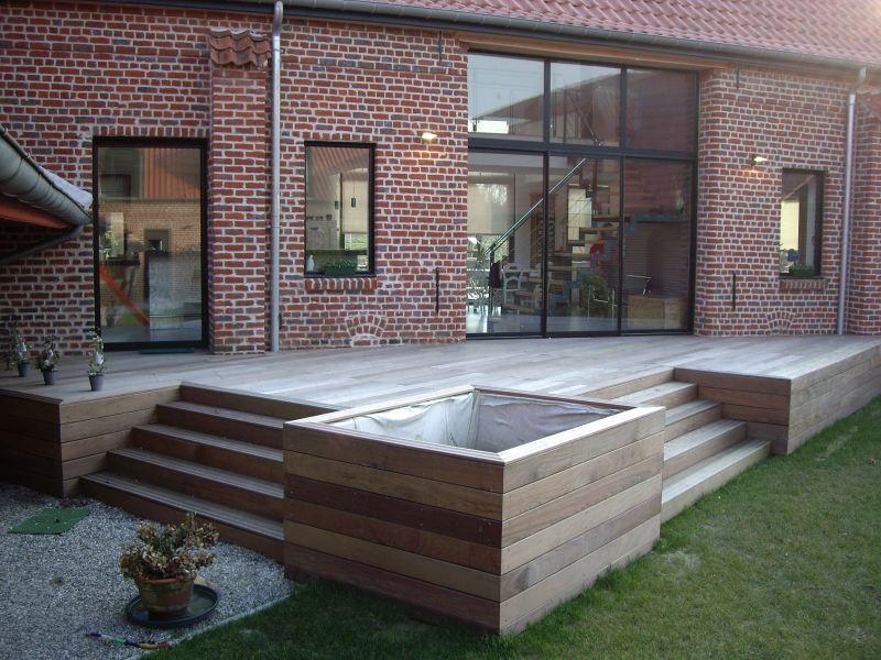 terrasse suspendue bois prix