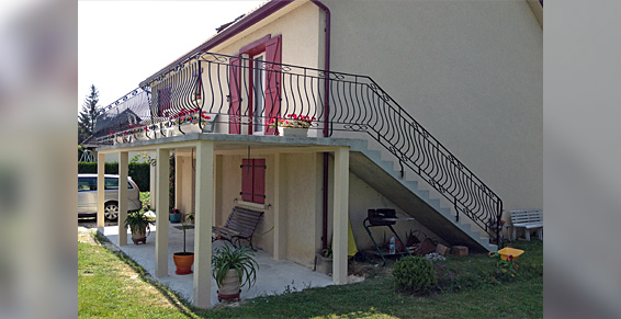 terrasse suspendue en beton