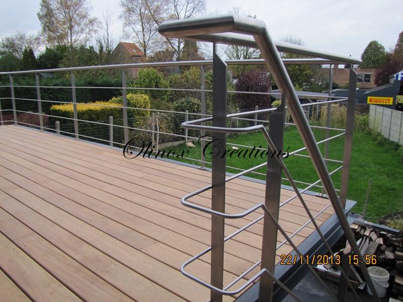 terrasse suspendue en bois belgique