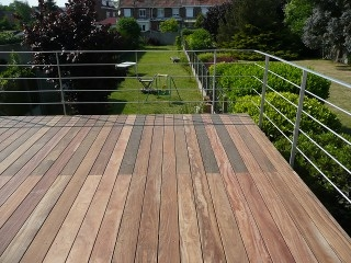 terrasse suspendue en ipe