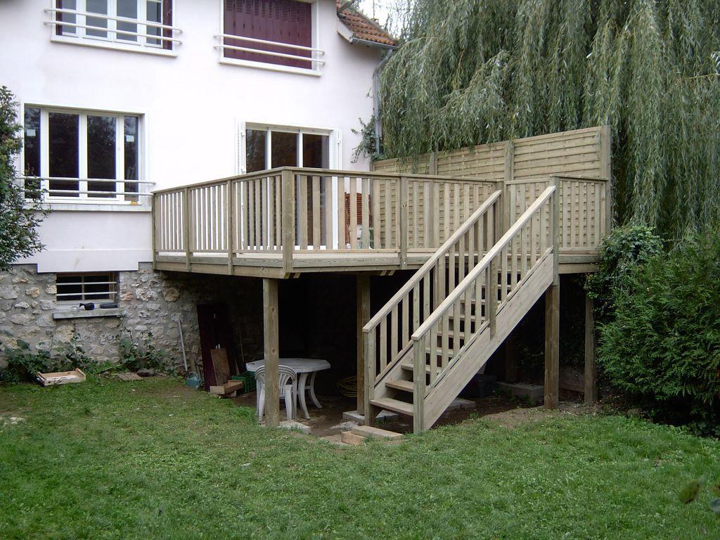 terrasse suspendue en kit