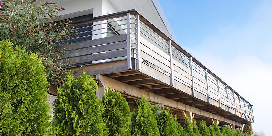 Terrasse suspendue lorraine