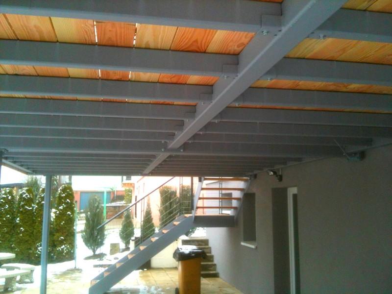 terrasse suspendue ossature metallique