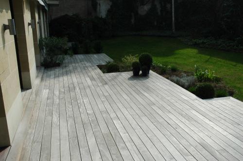 Terrasse teck gris