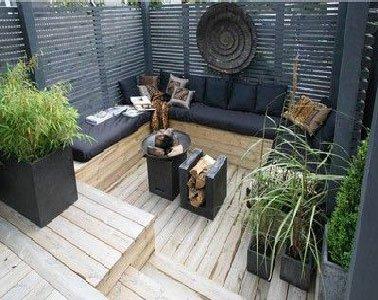 Terrasse zen plantes